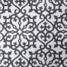 Allison wallpaper - Thibaut color black on metallic silver T35177