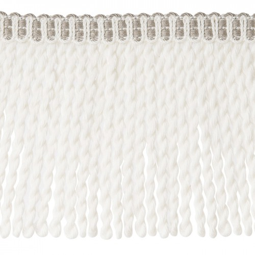 Frange moulinée simple 35 cm collection Plaza - Houlès color White 33099/9010
