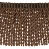 Frange moulinée simple 35 cm collection Plaza - Houlès color Brown 33099/9800
