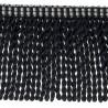 Frange moulinée simple 35 cm collection Plaza - Houlès color Black  33099/9900