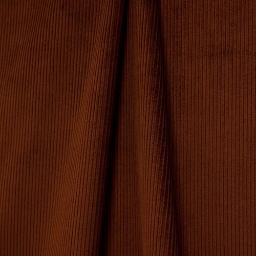Riga M1 velvet fabric - Lelièvre color mahogany 0806-05