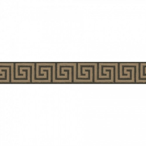 Frise papier peint Key Border - Cole and Son coloris Charbon de bois et bronze 98-9043