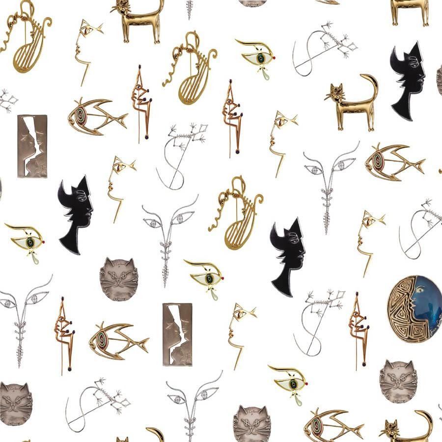 Joyaux wallpaper - Lelièvre color Ivory-6463-02