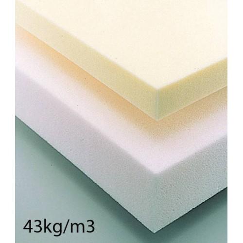 Plaque de mousse haute résilience 43kg/m3 épaisseur 20 mm en 160 x 200 cm