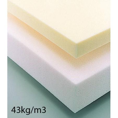 Plaque de mousse haute résilience très ferme 43kg/m3 160 x 200 cm