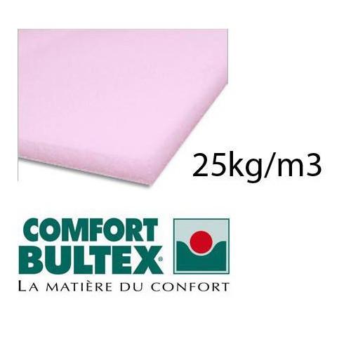 Plaque de mousse BULTEX 25kg/m3 épaisseur 20 mm en 160 x 200 cm