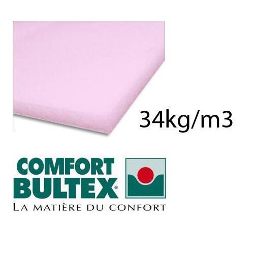Plaque de mousse BULTEX 34kg/m3 épaisseur 100 mm en 160 x 200 cm