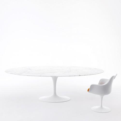Nappes transparentes sur mesure pour table ovale Eero Saarinen Knoll ®