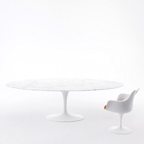 Transparent oval tablecloths made to order Table Eero Saarinen Knoll ®