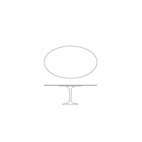 Transparent oval tablecloths made to order Table Eero Saarinen Knoll ® 198 cm