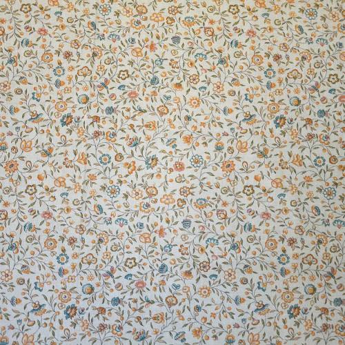 Toile de Jouy Eugenie Lin de Casal 30424/7445 turquoise-or