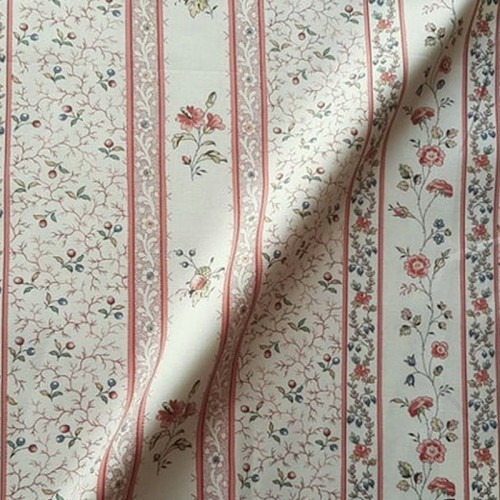 Toile de Jouy Charlotte from Casal 30415/7290 Rouge Rose