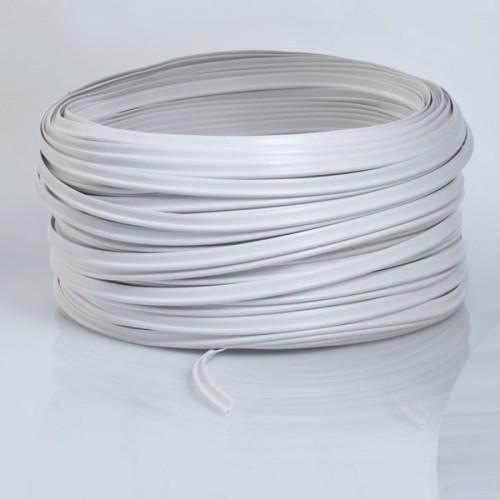 Rouleau de 100 mètres de passepoil souple 100% PVC diamètre 4 mm coloris Blanc