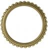 Anneaux Godron laiton pour tringle à rideaux collection Palace Laiton - Houlès 66713