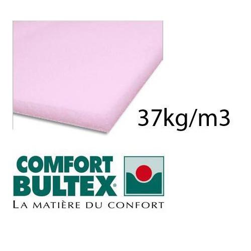 Plaque de mousse BULTEX 37kg/m3 épaisseur 20 mm en 160 x 200 cm