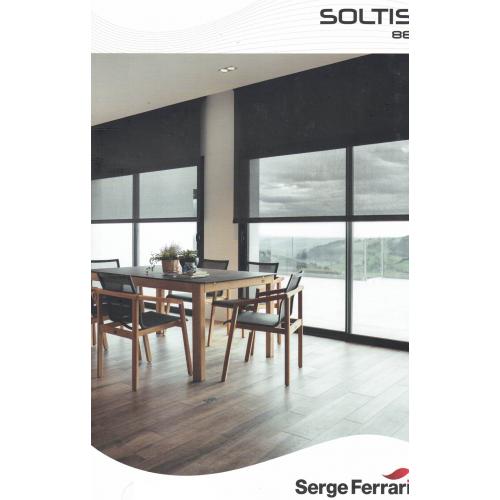 Plaquette d'échantillons toile Soltis 88 Serge Ferrari