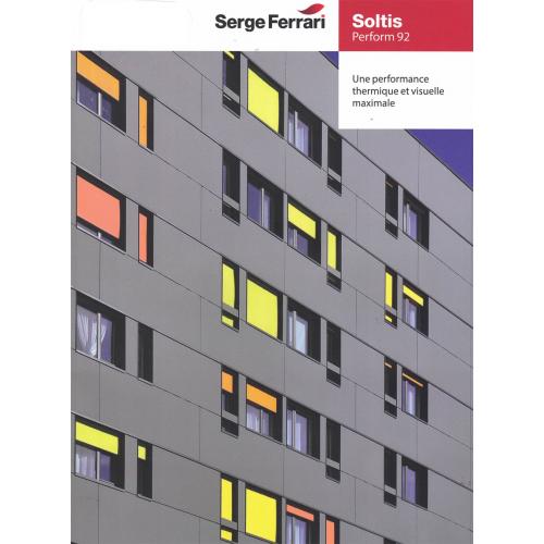 Plaquette d'échantillons toile Soltis 92 Serge Ferrari