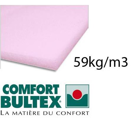Foam plate BULTEX extra firm 59kg / m3 160x200 cm