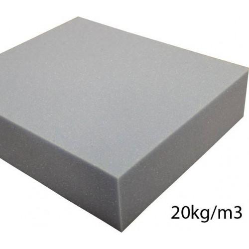 Plaque de mousse Polyether souple 20kg/m3 140 x 200 cm
