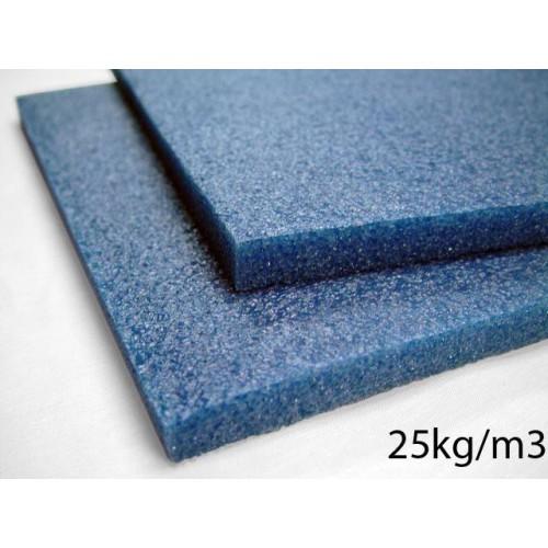 Plaque de mousse Polyether mi-ferme 25kg/m3 épaisseur 20 mm en 160 x 200 cm