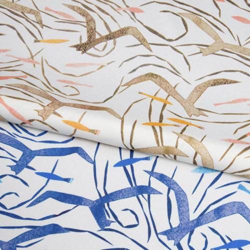 Tissu intérieur / extérieur Santorini coloris Bleu - Donghia