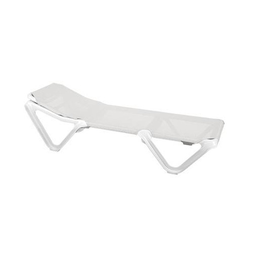 Eva RG Sunlounger by Baillou - White structure and seat