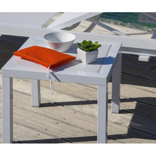 OLIMPIA side table by Baillou - White structure and top