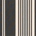 Tissu indoor outdoor Thibaut Linden Hill Stripe - Noir