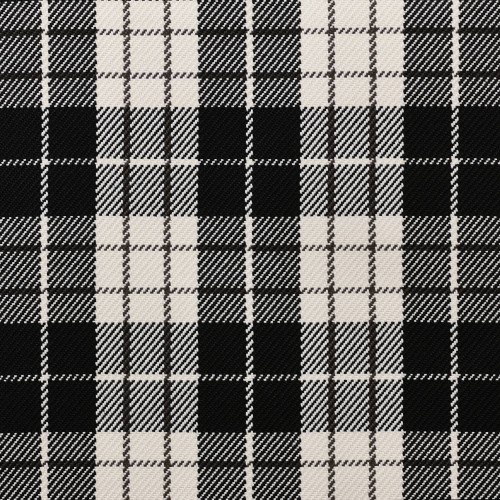 Tissu indoor outdoor Dedar Plaid - Noir