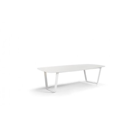 Rectangular outdoor dining table Air by Manutti - White ceramic 264 cm
