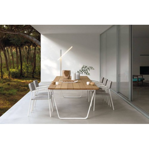 Rectangular outdoor dining table Air by Manutti