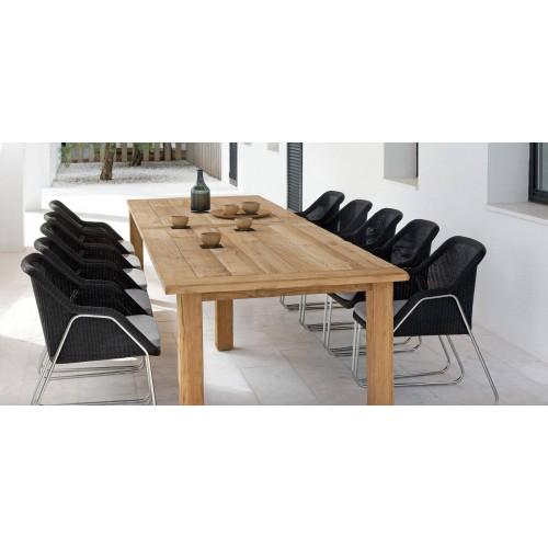 Table de repas rectangulaire pour l'extérieur Asti de Manutti