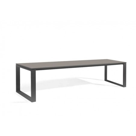 Rectangular outdoor dining table Fuse by Manutti - Lava frame