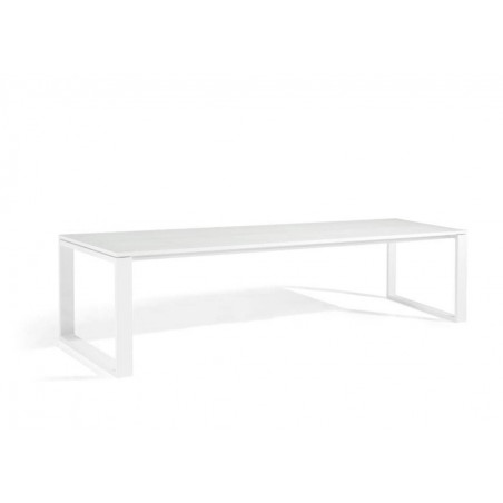 Rectangular outdoor dining table Fuse by Manutti - White frame