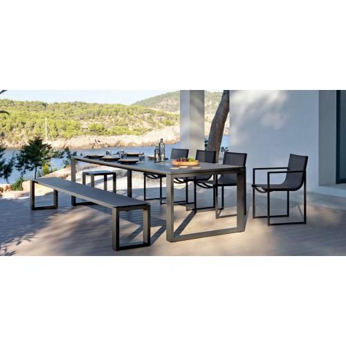 Table de repas rectangulaire pour l'extérieur Fuse de Manutti
