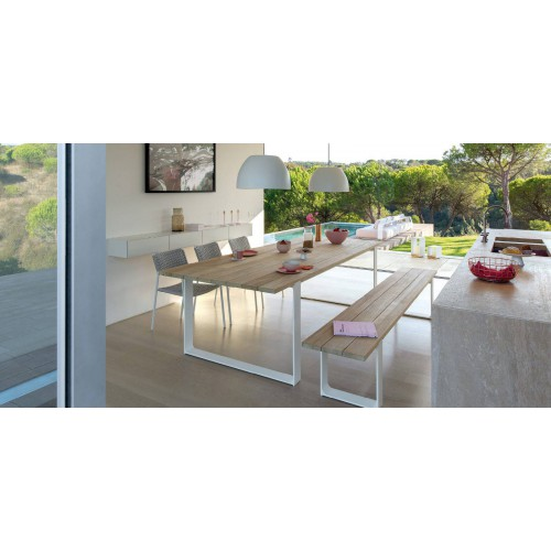 Rectangular outdoor dining table Prato by Manutti