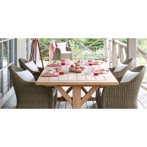 Rectangular outdoor dining table Livorno by Manutti