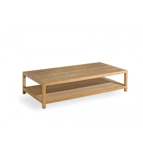 Rectangular outdoor coffee table Sorento by Manutti - Teak frame and top