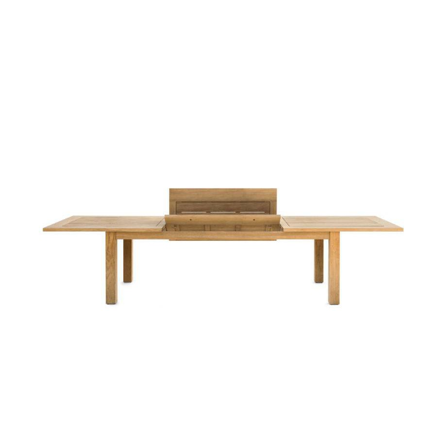 Extendible outdoor dining table Milano by Manutti - Folding system, frame and top teak