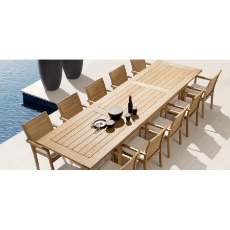 Extendible outdoor dining table Milano by Manutti