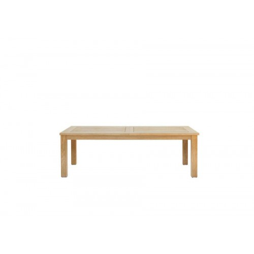 Rectangular outdoor dining table Milano by Manutti - Teak frame and top