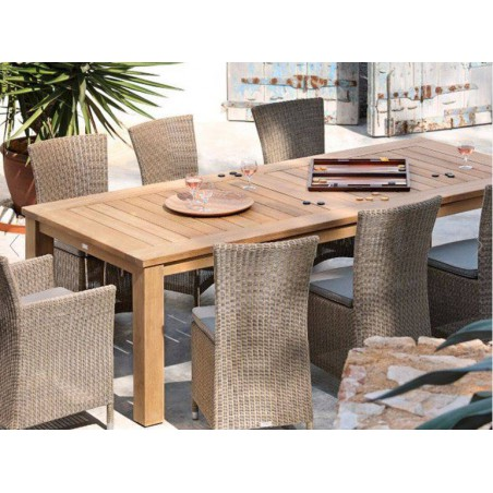 Rectangular outdoor dining table Milano by Manutti