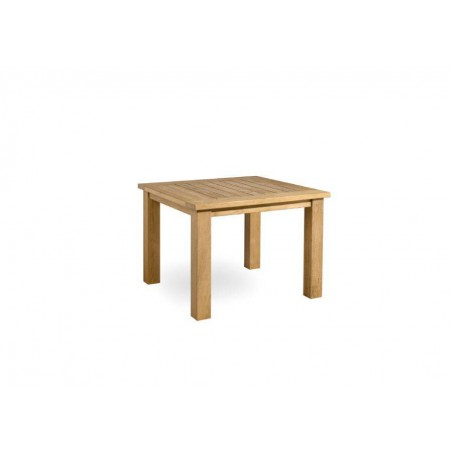 Square outdoor dining table Milano by Manutti - Teak frame and top