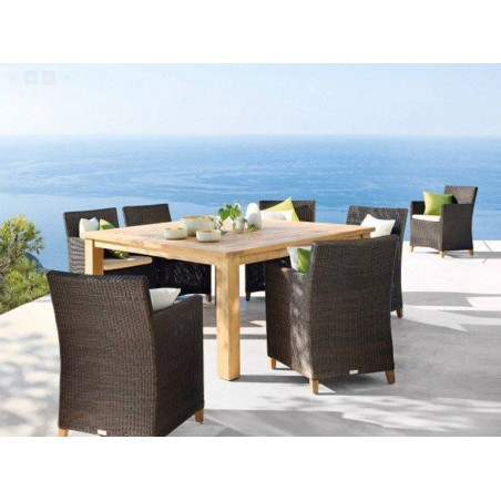 Square outdoor dining table Milano by Manutti