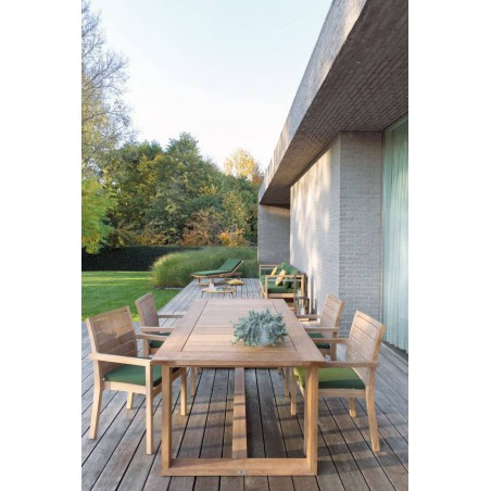 Rectangular outdoor dining table Siena by Manutti