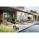 Rectangular outdoor dining table Siena by Manutti - Teak frame and top