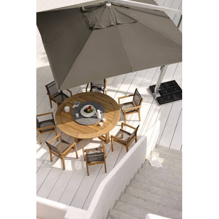 Round outdoor dining table Siena by Manutti