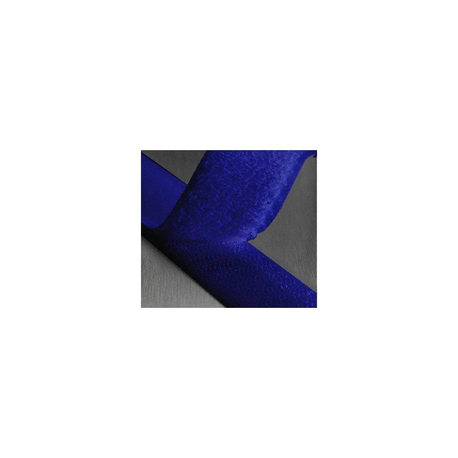 Ruban scratch auto agrippant coloris marine largeur 25 mm
