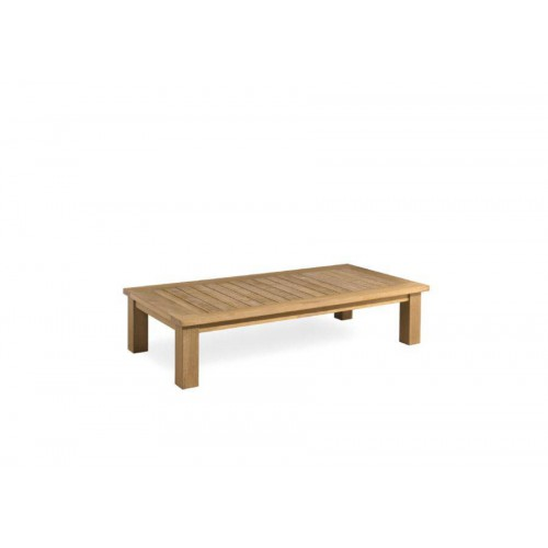 Rectangular outdoor coffee table Milano by Manutti - Teak frame and top