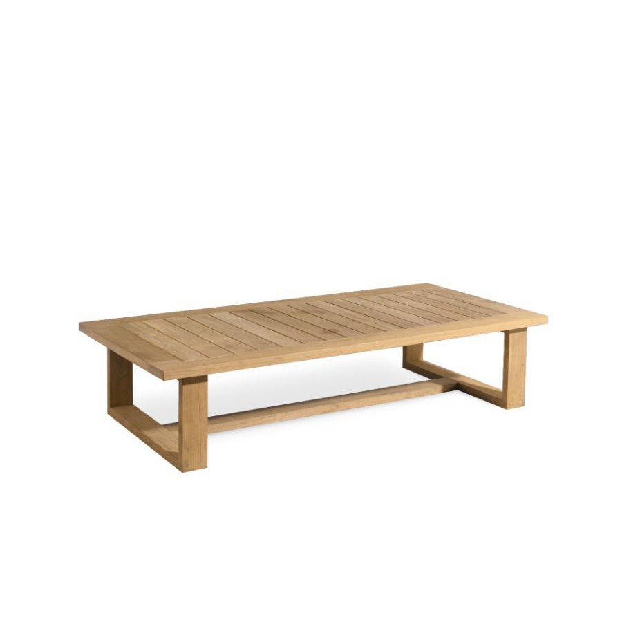 Rectangular outdoor coffee table Siena by Manutti - Teak frame and top